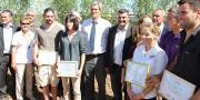 Parmi les 3 lauréats Graines d'agriculteurs 2016, Baptiste Pineau, un arboriculteur vendéen.