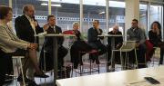 Dominique Allaume Bobe (Unaf), Christian Berthe (UNCGFL), Jean-Jacques Bolzan (FMGF), Françoise Roch (FNPF), Olivier Lemouzy (Aneefel), Alain Kritchmar (CSIF), Eric Fabre et Christel Teyssèdre (Saveurs commerce). Photo : B.Bosi/Pixel Image