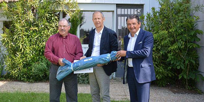 René Reynard, président de l'AOPn Raisin de table, Christian Mounier, vice-président du Conseil départemental de Vaucluse, Jean-Pierre Van Ruyskensvelde, directeur général de l'IFV.