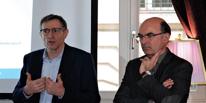 Dominique Chargé, président de Coop de France, et Arnaud Degoulet, président de Coop de France Agroalimentaire. Photo : O.Lévêque/Pixel6TM