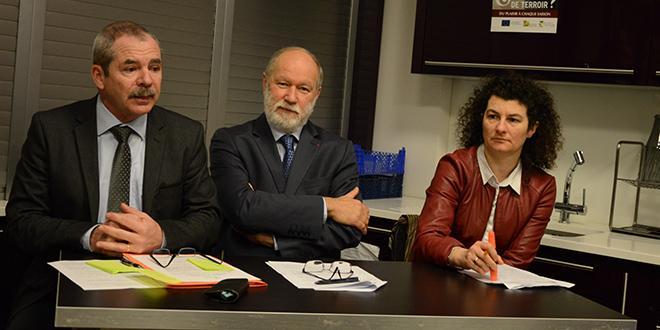Les trois présidents du CTIFL, d'Interfel et d'Aprifel : Jacques Rouchaussé, Bruno Dupont et Christel Teyssèdre.