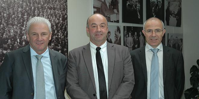 De gauche à droite : Jean-Michel Péron, secrétaire général de la Sica de Saint-Pol-de-Léon, Marc Keranguéven, président, et Olivier Sinquin, directeur. Photo : D. Bodiou/Pixel6TM