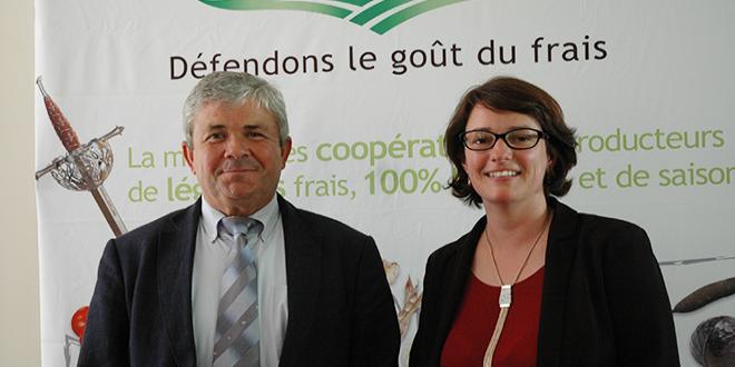 Joseph Rousseau, président de l'AOP Cerafel et Maïwenn Bullier, directrice.