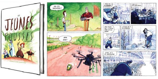"""10 000 exemplaires de la bande dessinée """"Les Jeunes Pousses"""" vont être diffusés dans les collèges, les lycées… Photo : DR"""