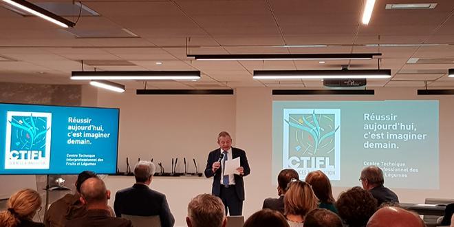 Présentation du nouveau logo du CTIFL. Photo : DR